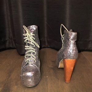 Jeffrey Campbell Glitter Platform heels